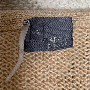 Sparkle & Fade Sweaters - Sparkle and Fade tan sweater S